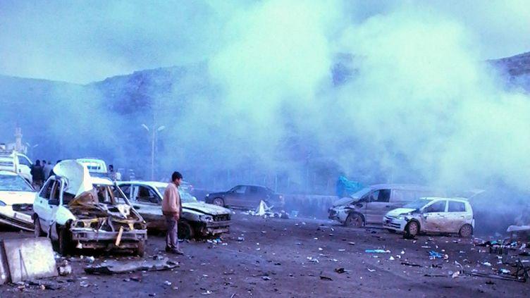 Une voiture piégée a explosé à la frontière turco-syrienne lundi 11 février, près de la localité deReyhanli (Turquie). ( AFP)