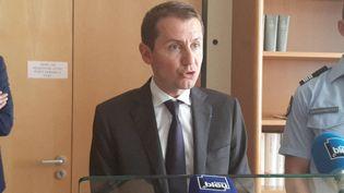 Le procureur de la République Nicolas Heitz, le 27 juin 2019 à Epinal (Vosges). (CEDRIC LIETO / FRANCE-BLEU SUD LORRAINE / AFP)