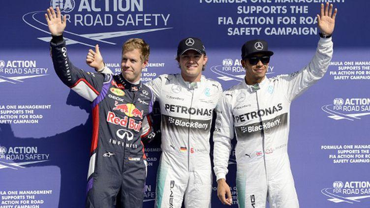 Vettel, Rosberg, Hamilton: en tête sur la grille de départ à Spa