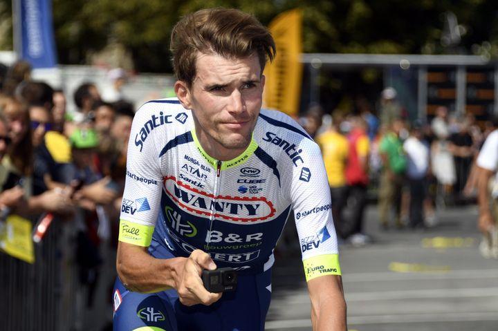 Yoann Offredo les couleurs de la Circus - Wanty-Gobert, pendant le Tour de France 2019. (ALEXANDRE MARCHI / MAXPPP)