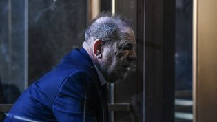 Harvey Weinstein au tribunal de New York, le 9 janvier, pour le début de son procès. (STEPHANIE KEITH / GETTY IMAGES NORTH AMERICA)