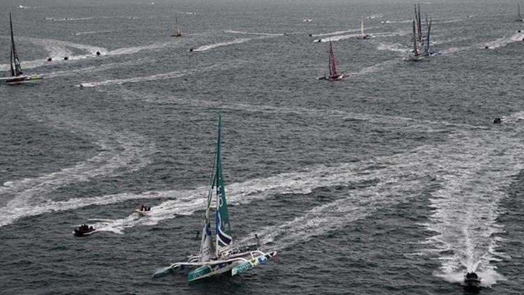 La flotte de la Route du Rhum (DAMIEN MEYER / AFP)