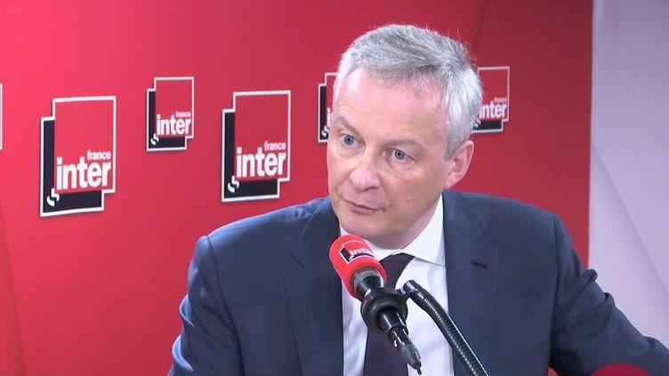 Bruno Le Maire, invité de France Inter le 9 mars 2020. (FRANCE INTER / RADIO FRANCE)