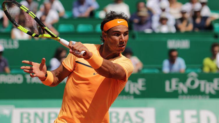 Le coup droit puissant de l'Espagnol Rafael Nadal  (CITIZENSIDE/ANNE GUARDIOLA / CITIZENSIDE)