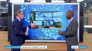 L'intelligence artificielle peut retrouver une image précise parmi des milliers d'heures de vidéosurveillance. (France 3)