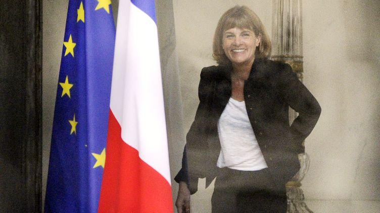 Anne Lauvergeon, ancienne patronne d'Areva, quitte l'Elysée après une entrevue avec Nicolas Sarkozy, le 20 juin 2011. (ERIC FEFERBERG / AFP)