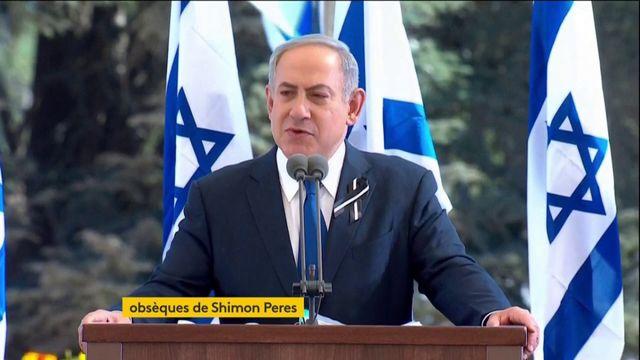"""Benyamin Nétanyahou évoque """"l'héritage"""" de Shimon Peres lors de ses obsèques"""