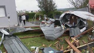 Moselle : de gros dégâts à Saint-Avold après un déluge de grêle (France 2)