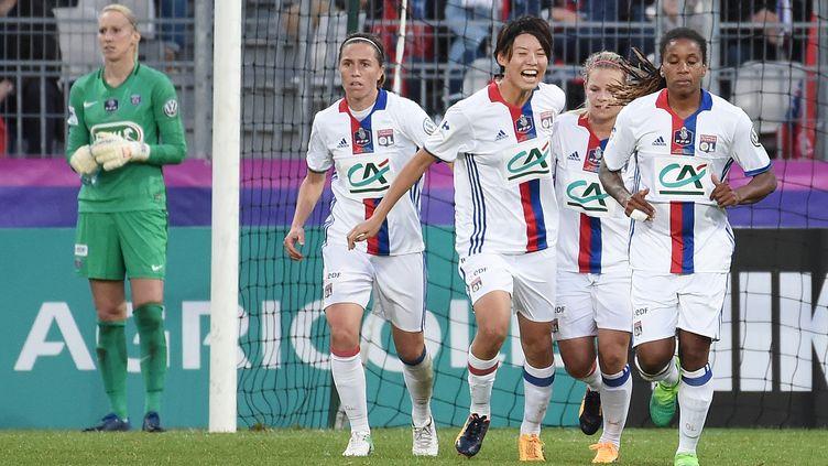 L'OL a remporté la Coupe de France contre le PSG  (JEAN-SEBASTIEN EVRARD / AFP)
