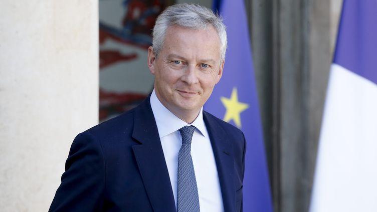 Le ministre de l'Economie, Bruno Le Maire, à la sortie du conseil des ministres le 12 septembre 2018. (LEON TANGUY / MAXPPP)