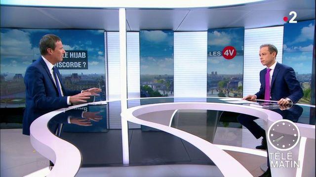 """Européennes :  Emmanuel Macron """"fait campagne en dehors de toute règle du CSA"""", critique Nicolas Dupont-Aignan"""