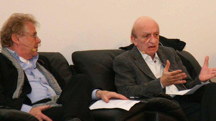 Samir Frangié (à droite) avec Daniel Cohn-Bendit lors d'un meeting des Verts/Alliance Libre Européenne, le 10 mai 2012 à Copenhague. (Creative Commons Attribution 2.0 Generic license.)