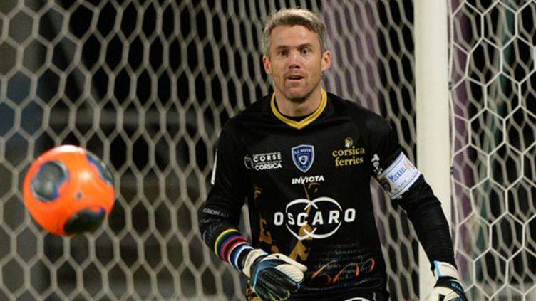 Mickaël Landreau, lors de sa dernière saison de joueur à Bastia