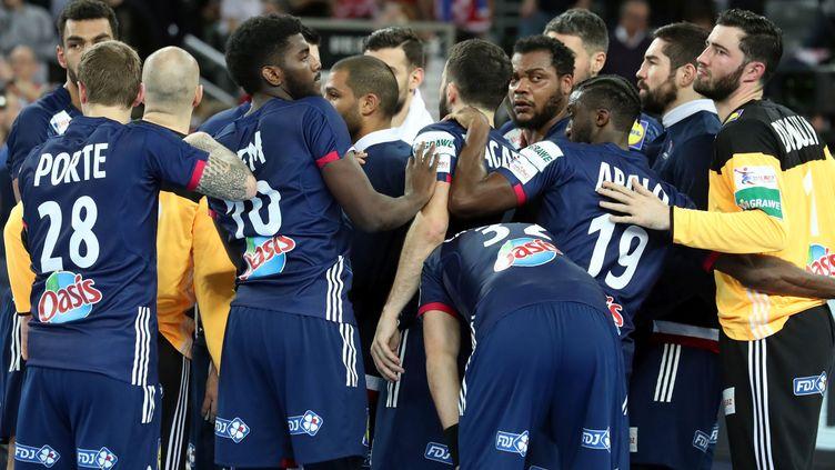 La déception des joueurs de l'équipe de France (PILLAUD STEPHANE)