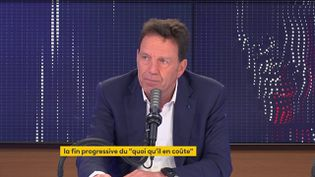 Geoffroy Roux de Bézieux, président du Medef, était l'invité de franceinfo le 19 mai 2021. (FRANCEINFO / RADIOFRANCE)