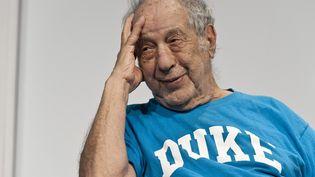 Le photographe américain d'origine suisse Robert Frank en avril 2012. (LUKAS LEHMANN / MAXPPP)