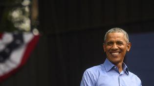 Barack Obama en 2018 à Philadelphie. (MARK MAKELA / GETTY IMAGES NORTH AMERICA)