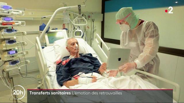 Covid-19 : émotions lors de retrouvailles à distance pour les patients transférés
