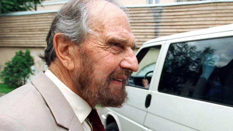 L'agent double George Blake, le 28 juin 2001 à Moscou. (YURY MARTYANOV / KOMMERSANT PHOTO)