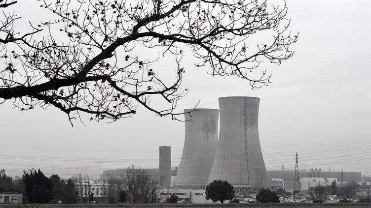 La centrale nucléaire du Tricastin, dans la Drôme, le 25 janvier 2017. (PHILIPPE DESMAZES / AFP)
