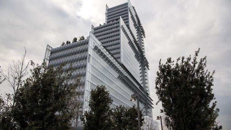 Le nouveau palais de justice de Paris a été conçu par l'architecte italien Renzo Piano. (CHRISTOPHE ARCHAMBAULT / AFP)