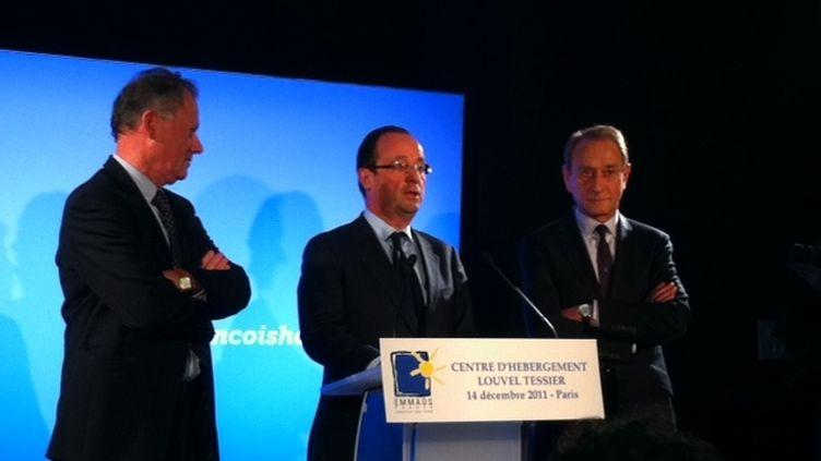 François Hollande au centre Emmaüs Louvel Tessier (PM)