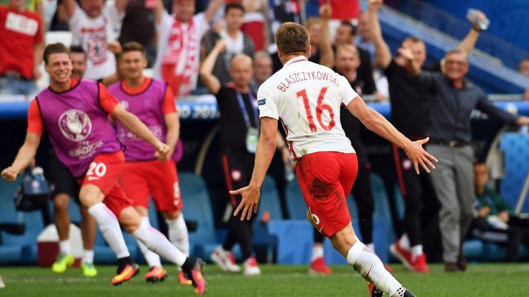 Jakub Blaszczykowski, héros du match pour la Pologne (BORIS HORVAT / AFP)