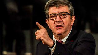 Jean-Luc Mélenchon lors d'un meet.ing à Lille en octobre 2018. (PHILIPPE HUGUEN / AFP)