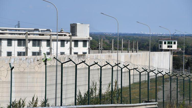 La maison d'arrêt deVilleneuve-les-Maguelones, près de Montpellier, le 26 mars 2020 (illustration). (PASCAL GUYOT / AFP)