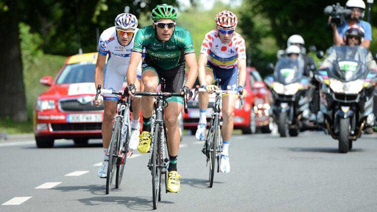 Christophe Kern (Europcar) échappé sur le Tour de France 2012 (YORICK JANSENS / MAXPPP)