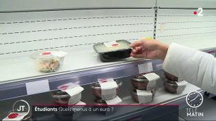 Les repas à un euro dont bénéficient les étudiants (France 2)