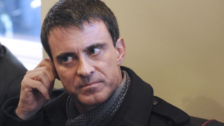 Le Premier ministre Manuel Valls en déplacement à Saint-Brieuc (Côtes-d'Armor) le 14 mars 2015. (JEAN-FRANCOIS MONIER / AFP)