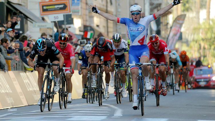 Le triomphe d'Arnaud Démare (FDJ) sur Milan-San Remo (MARCO BERTORELLO / AFP)
