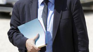 Le ministre de l'Agriculture Stéphane Travert quitte le palais de l'Elysée après le premier conseil des ministres du qsecond gouvernement d'Edouard Philippe, le 22 juin 2017. (THOMAS SAMSON / AFP)