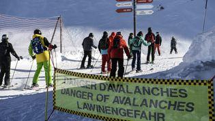 Danger d'avalanches signalé à Val Thorens, en janvier 2018 (PHILIPPE DESMAZES / AFP)