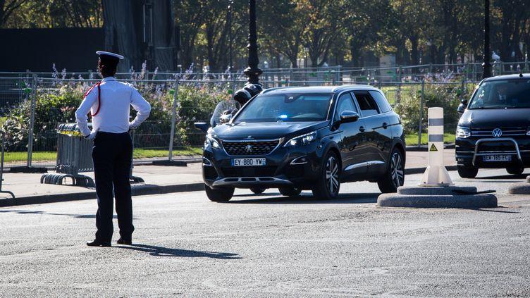 L'une des voitures banalisées du parc présidentiel, à Paris, le 5 octobre 2018. (MAXPPP)