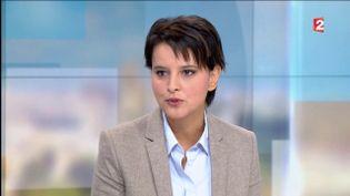La ministre de l'Education nationale, Najat Vallaud-Belkacem, invitée de France 2, le 2 octobre 2016. (FRANCE 2)