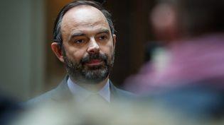 Edouard Philippe, le 24 décembre 2018 devant la préfecture de polce de Paris. (FRANCOIS GUILLOT / AFP)