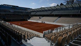 Le nouveau courtSimonne-Mathieu à Roland-Garros à Paris, le 21 mars 2019. (PHILIPPE LOPEZ / AFP)