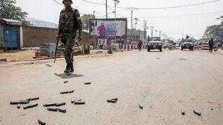Des rebelles centrafricains ont lancé des attaques contre la capitale Bangui, défendue par des Casques bleus et des militaires rwandais (13 janvier 2021). (ADRIENNE SURPRENANT / MAXPPP)