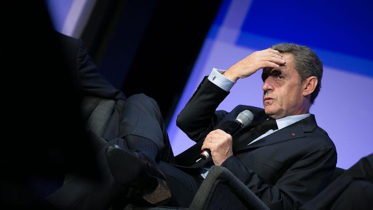 Nicolas Sarkozy a notamment été confronté mardi 27 septembre aux aux attaques de son ancien conseiller Patrick Buisson (CEDRIC BUFKENS/WOSTOK PRESS / MAXPPP)