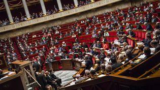 L'Assemblée nationale lors des questions au gouvernement, le 8 avril 2015. (AURÉLIEN MORISSARD / CITIZENSIDE.COM)