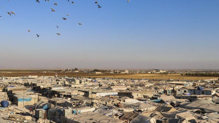 Le camp d'Azaz, au nord-est de la Syrie, à proximité duquel la soeur d'Abou Bakr al-Baghadi a été arrêtée. (ESRA HACIOGLU / AFP)