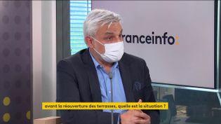 Loïc Latour, PDG de France Boissons, invité éco de franceinfo, vendredi 14 mai 2021. (FRANCEINFO)
