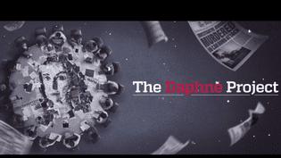 """Capture d'écran de la vidéo annonçant le """"Projet Daphne"""", dont les premières révélations seront disponibles le 17 avril 2018. (FORBIDDEN STORIES)"""