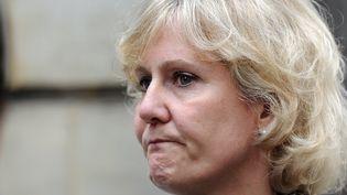 L'eurodéputée UMP Nadine Morano lors d'un meeting de son parti, le 27 mai 2014, à Paris. (STEPHANE DE SAKUTIN / AFP)