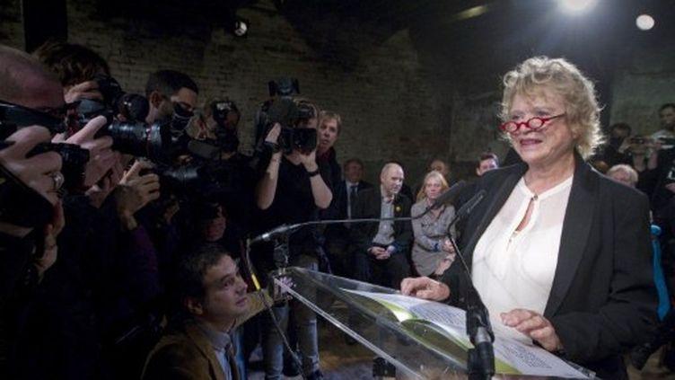 La candidate EELV à l'élection présidentielle, Eva Joly. (JOEL SAGET / AFP)