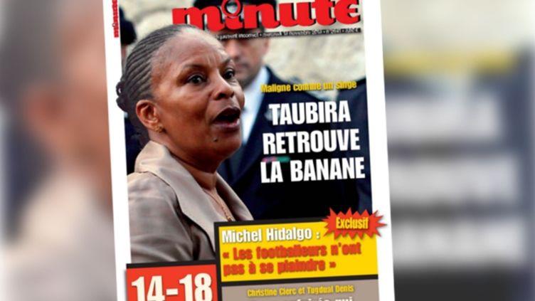 """La une de l'hebdomadaire d'extrême droite """"Minute"""", datée du 13 novembre 2013. (FRANCETV INFO)"""