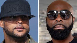 Les rappeurs Kaaris (G) et Booba (D)  (Dominique FAGET / AFP)