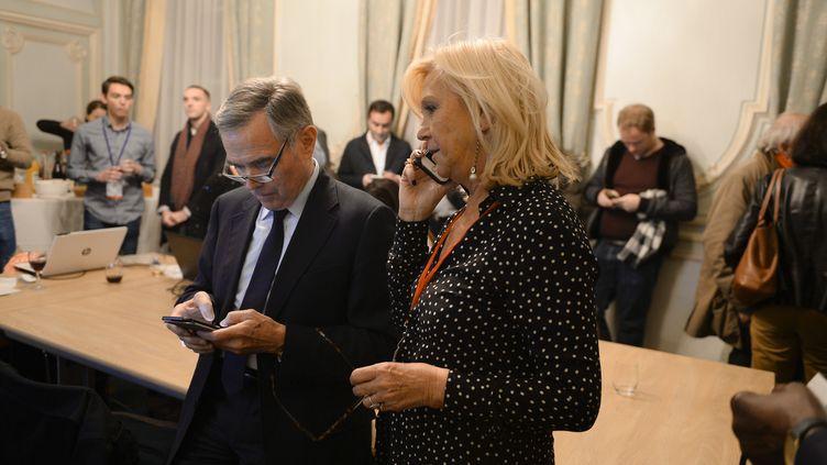 Anne Méaux, lesoir du second tour de la primaire de la droite, le 27 novembre 2016, àla Maison de la Chimie, à Paris. (ELODIE GREGOIRE / REA)